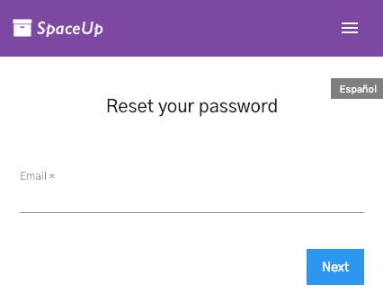 Units Customer App: Forgot password