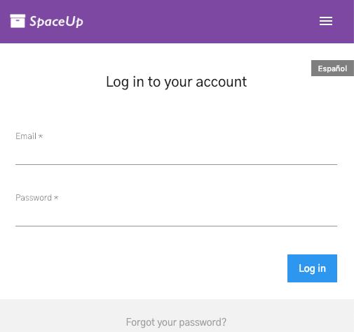 Units Customer App - password reset