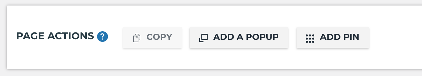 Page Actions Bar